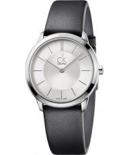 Calvin Klein K3M221C6 Minimal Black Leather Strap Watch