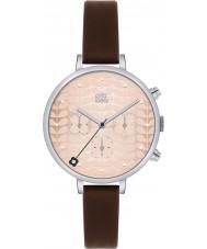 Orla Kiely OK2017 Ladies Ivy Chronograph Dark Brown Leather Strap Watch