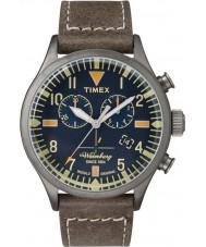 Timex Originals TW2P84100 Mens Waterbury Brown Leather Strap Chronograph Watch