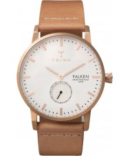 Triwa FAST101-CL010614 Rose Plated Falken Nude Leather Strap Watch