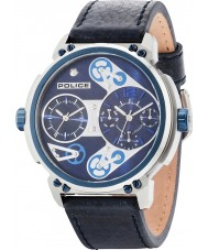 Police 14693JSTBL-03 Mens Steampunk Blue Leather Strap Watch