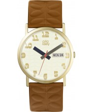 Orla Kiely OK2134 Ladies Madison Tan Leather Strap Watch