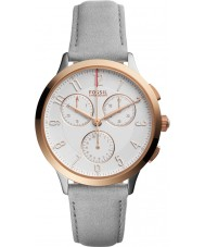 Fossil CH3071 Ladies Abilene Grey Leather Chronograph Watch