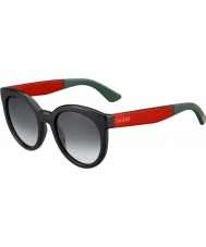 Gucci Ladies GG 3810-S VM8 9O Black Red Sunglasses