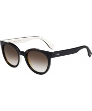 Fendi Colour Flash FF 0150-S MIY CC Havana Cream Sunglasses