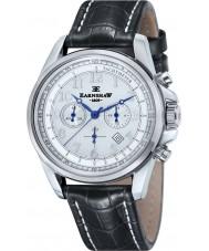 Thomas Earnshaw ES-8028-10 Mens Commodore Black Leather Chronograph Watch
