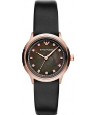 Emporio Armani AR1802 Ladies Classic Black and Rose Gold Watch