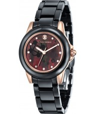 Klaus Kobec KK-10008-04 Ladies Vesta Rose Gold and Black Ceramic Watch