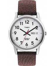 Timex T20041 Mens White Brown Easy Reader Watch