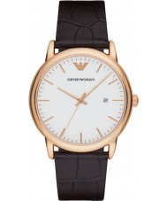 Emporio Armani AR2502 Mens Classic Dark Brown Leather Strap Watch