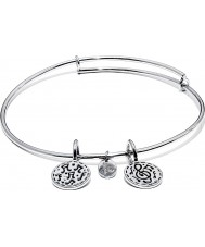 Chrysalis CRBT0005SP Festival Rhodium Plated Expandable Bangle