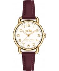 Coach 14502613 Ladies Delancey Burgundy Leather Strap Watch