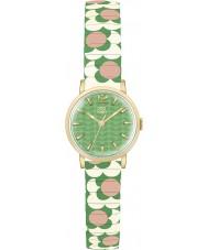 Orla Kiely OK4042 Ladies Flower Pop Pink Cream Green Expanding Bracelet Watch