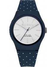 Superdry SYG166UW Ladies Urban Micro Blue White Printed Dots Watch