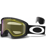 Oakley 59-361 02 XL Matte Black - High Intensity Yellow Ski Goggles
