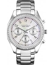 Caravelle New York 43L159 Ladies Melissa Silver Chronograph Watch