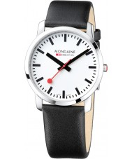 Mondaine A638-30350-11SBB Simply Elegant 41 mm Black Leather Strap Watch
