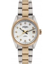 Rotary LB02662-02 Ladies Timepieces Havana Two Tone Rose Gold Watch