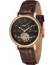 Thomas Earnshaw ES-8047-04 Mens Beaufort Brown Crock Leather Strap Watch