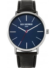 Ben Sherman WB054B Mens Black Leather Strap Watch