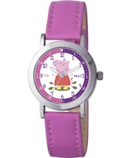 Peppa Pig PP007 Girls Time Teacher Watch with Pink PU Strap