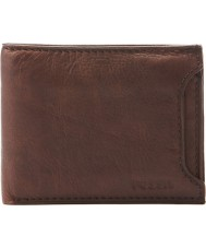 Fossil ML3288200 Mens Hale Sliding 2 In 1 Brown Wallet