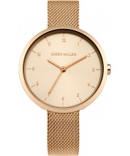 Karen Millen KM135RGM Ladies Rose Gold Plated Bracelet Watch
