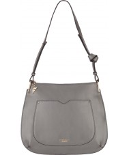 Fiorelli FH8519-GREY Ladies Boston City Grey Saddle Hobo Bag