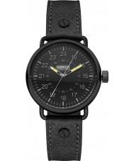 Barbour BB022BKBK Mens Fowler Black Leather Strap Watch