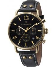 Thomas Earnshaw ES-8001-01 Mens Investigator Black Leather Chronograph Watch
