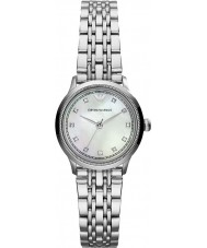 Emporio Armani AR1803 Ladies Classic White and Silver Watch