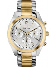 Caravelle New York 45L136 Ladies Melissa Two Tone Chronograph Watch