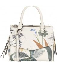Fiorelli FH8667-PRINT Ladies Mia White Botanical Print Grab Bag