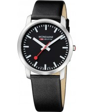 Mondaine A638-30350-14SBB Simply Elegant 41 mm Black Leather Strap Watch