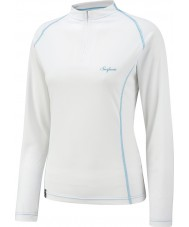 Surfanic SW122601-012-XL Ladies Zip White Baselayer - Size XL