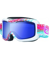 Bolle 20940 Monarch White Diamond - Aurora Blue Ski Goggles