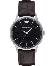 Emporio Armani AR2480 Mens Classic Dark Brown Leather Strap Watch