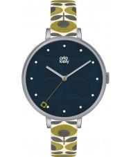 Orla Kiely OK2135 Ladies Ivy Cream Leather Strap Watch