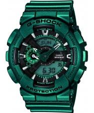 Casio GA-110NM-3AER Mens G-Shock Green Worldtime Combi Watch