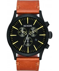 Nixon A405-2664 Mens Sentry Leather Watch