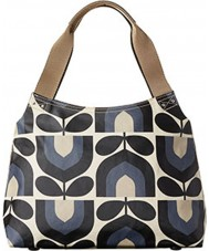 Orla Kiely 17RESTP024-0280 Ladies Classic Stripe Tulip Print Dusk Zip Shoulder Bag