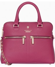 Modalu MH6144-RASPBERRY Ladies Pippa Raspberry Chained Crossbody Bag