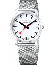 Mondaine A638-30350-16SBM Simply Elegant 41 mm Silver Steel Mesh Bracelet Watch