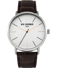 Ben Sherman WB054BR Mens Brown Leather Strap Watch