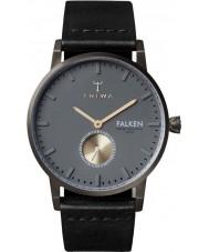 Triwa FAST102-CL010113 Walter Falken Black Leather Strap Watch