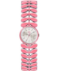 Orla Kiely OK4046 Ladies Laurel Pink Steel Bracelet Watch
