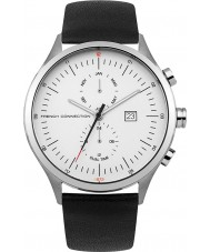 French Connection FC1266B Mens Black Leather Strap Watch