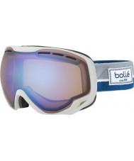 Bolle 21450 Emperor White and Blue Etnic - Aurora Ski Goggles