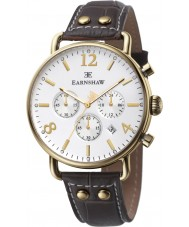 Thomas Earnshaw ES-8001-02 Mens Investigator Brown Leather Chronograph Watch