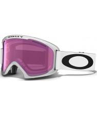 Oakley 59-364 02 XL Matte White - Violet Iridium Ski Goggles